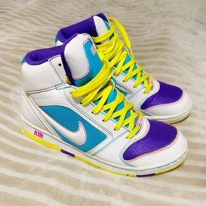 Nike Air 💜💛💙 Color Pop High Tops